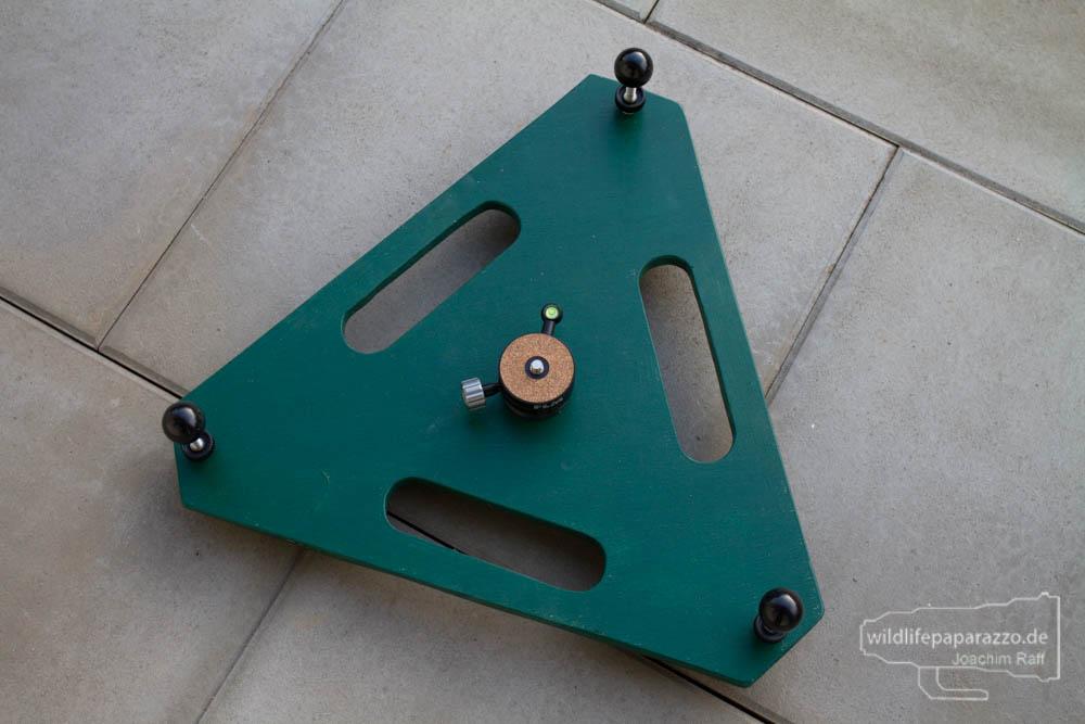 DIY Bodenstativ für schwere Tele
